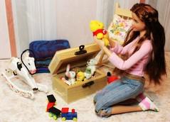 A-Z challenge: T-toy box treasures (saratiz) Tags: toys bear barbie barbiemadetomove rockinghorse childhood barbieuniversityofoklahoma