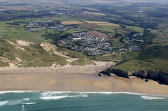 Holywell Bay in Cornwall - aerial image (John D F) Tags: holywellbay hollywellbay cornwall coast beach coastline aerial aerialphotography aerialimage aerialphotograph aerialimagesuk aerialview