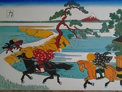 Hokusai-vedute del monte Fuji - Riproduzione - acrilico su tela -cm 90x60