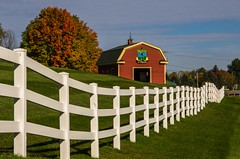The Links at Outlook (Bud in Wells, Maine) Tags: southberwick maine autumn fence foliage route4