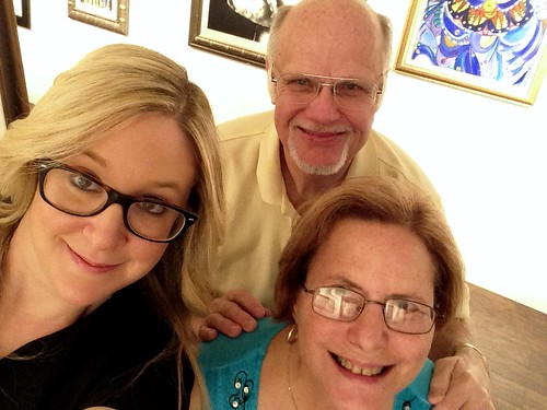 Amy Poliakoff from RDZ Coral Gables in an ARTfie with Harry and Barbara Pickering