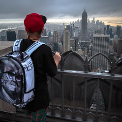New York, New York (Oleg.A) Tags: cityscape hudsonriver rockefellercenter usa viewpoint manhattan newyork evening