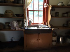 Kitchen Sink (Foxy Belle) Tags: wood food house ny kitchen museum floors century rural early wooden farmers antique farm cook pots american dishes 19th cooperstown pans
