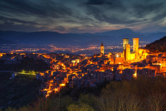 The Towers of Madonna (hapulcu) Tags: italien italy italia dusk madonna medieval italie abruzzo ciccone pacentro