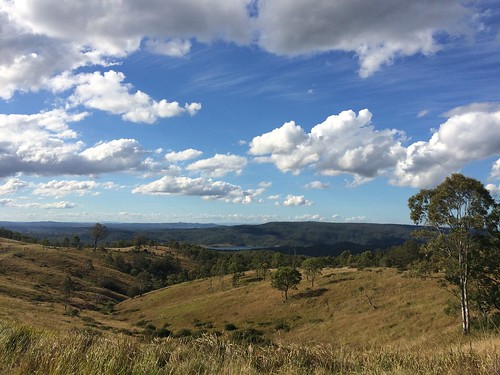 View over Lake Cressbrook, South East Queensland, Australia.