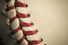 Stripes 152/365 (Watermarq Design) Tags: macro baseball pentax stripes softball hmm laces 365project macromondays
