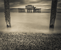 Brighton West Pier (RickybanPhotography) Tags: sea west beach coast pier brighton