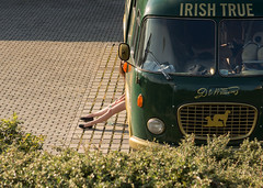 irish bus with girl (LibreShot.com) Tags: street city ireland urban bus photography prague praha 500px ifttt