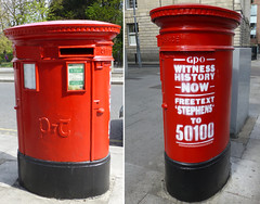 St. Stephens Green, Dublin 2 (piktaker) Tags: ireland post mail postoffice eire letterbox gpo roi pillarbox 1916 easterrising republicofireland anpost witnesshistorynow