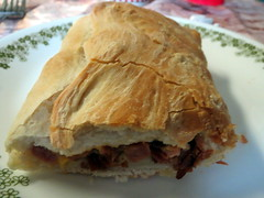 Ham And Cheese Stromboli. (dccradio) Tags: cheese dinner md maryland plate ham eat meal supper mountairy stromboli mtairy corelle