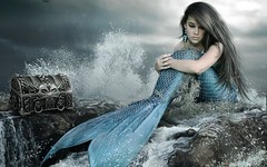 Sad Mermaid Captured HD Wallpaper (StylishHDwallpapers) Tags: girl alone sad treasure captured mermaid