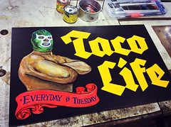 Everyday is Taco Tuesday (Green Queso) Tags: desktop caf coral tattoo photoshop print logo typography graffiti graphicdesign graphics printer traditionalart cartoon murals illustrations tattoos businesscards adobe printing handpainted production illustrator draw calligraphy pubs chalkboard brochures brochure logos newsletter acrylicpainting weddinginvitations chalkart grafix oilpaint graphicdesigner cartoonists golive corporateidentity kidspainting letterhead fauxpainting cmyk chalkboards handpaintedsigns msoffice airbrushpainting tattoosign coffeeshopsigns interiorpainting windowpaintings chalkboardmenu chalksigns chalkmenu customlogos kidsmurals mspublisher restaurantmenus chalkboardartist cafesigns oneshotpaint goldleaflettering chalkdesign restaurantchalksigns delibars caffemenus watergildingsign chalkrestaurantmenus customchalkboardmenusigns artchalksigns muralscustom