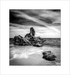 Roca del Paller (tkimages2011) Tags: sky seascape water clouds canon landscape spain rocks surf wave catalunya scape costabrava rocadepaller