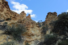 Squat turrets near the top (rozoneill) Tags: lake oregon river carlton butte desert hiking painted canyon vale trail backpacking saddle blm uplands owyhee honeycombs