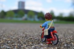 Biking Off (AyliffeMakit) Tags: london scale bike photography photo lego photos location legos minifig minifigs stratford irl minifigure ayliffe minifigscale