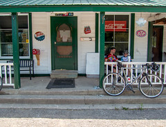 General Store (Perry McKenna) Tags: ingrid paul cycling northumberland generalstore rollinghills motobecane fruitloops wallacegromit greatride vernonville day143366 366the2016edition 3662016 22may16