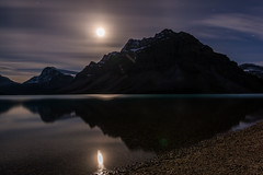 Moonlight Reflections in Banff National Park (Mark Willard Photography) Tags: moon banff national park alberta canada parcs parc travel vacation landscape nikon d810 holiday night nighttime star stars long exposure nature natural reflection canadian camping mountain mountains lake