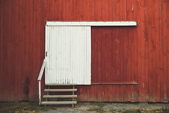 (wickedmartini) Tags: red barn door old rustic clich weathered color saturated michaeldavignon