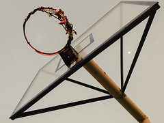 aiming for the moon (geralyncruz) Tags: basketball hoops court moon ring geometrical shapes minimalist