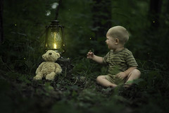 Playing With Fireflies (Phillip Haumesser Photography) Tags: light boy playing green nature boys kids forest children fun kid woods child play natural sony magic 85mm adventure imagination magical fireflies philliphaumesser sonya7ii