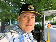 Day 1663 - Day 203: Programmed for etiquette (knoopie) Tags: 2016 july iphone picturemail doug knoop knoopie me selfportrait 366days 366daysyear5 year5 365more day1663 day203 hat westlakestation c3po programmedforetiquette funkopop