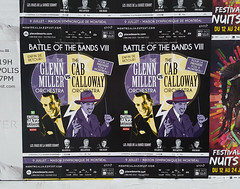 Montreal Jazz Fest 2016 - Battle of the Bands VIII (Exile on Ontario St) Tags: montral jazzfest jazz fest festival festivalinternationaldejazzdemontral festivaldejazz montrealjazzfestival affiche poster cabcalloway orchestra glennmiller battle bands battleofthebands maison symphonique cab calloway glenn miller orchestre mikegauthier rmibolduc dickirvin battleofthebandsviii battleofthebands8 oldschool retro classic classique legends music venue concert musique pub publicit advertisement advertising advert ad advertise purple mauve violet