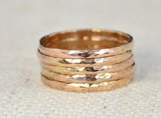 Set of 5 Classic Siz (alaridesign) Tags: set 5 classic size 14k rose gold filled stacking rings these sturdy minimal simple hammered bands rustic understated luxury heirloo handmade alari alaridesign 14krosegold 14krosegoldring 14kstackingring classicrosegold jewelry ring rosegold rosegoldband rosegoldfilled rosegoldring setof5goldrings solidrosegold stackingring thinstackingring