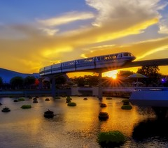 End of a Magical Day (Fab05) Tags: waltdisneyworld disney epcot monorail futureworld sunset sunburst sky worldshowcase disneyparks clouds colorful