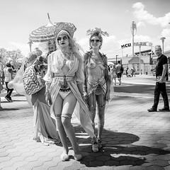 Mermaid 2016 (mkc609) Tags: bw coneyisland flickr mermaidparade street streetphotography blackandwhite blackwhite urban candid nyc newyork newyorkcity