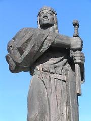 Князь Прибина. Памятник в Нитре