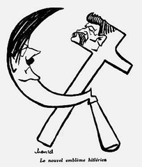 Hitler's new emblem (stillunusual) Tags: nazi nazigermany germany ussr sovietunion russia adolfhitler hitler josefstalin stalin nazisovietpact ribbentropmolotovpact allies secondworldwar worldwar2 ww2 wwii swastika hammerandsickle history poland polska cartoon 1939