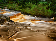 Ireland - where even the rivers are full of Guinness!! (Donna Rowley) Tags: ireland river fermanagh roogagh garrison longexposure water flow current landscape waterscape outdoor guinness scenic