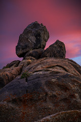 The Rock Giant (Eric Gail: AdventuresInFineArtPhotography) Tags: alabamahills canon70d rockformation sky pink lonepine 395 sunset