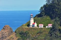 Heceta head light house (JSB PHOTOGRAPHS) Tags: trees water sea ocean coast oregon hecetahead hecetaheadlighthouse lighthouse jsb8586 nikon200500mmafsgf56evr nikon jsbphotographs d600 tc14e