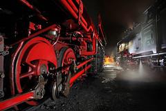 POWER AT REST (dayvmac) Tags: steamlocomotives werrnigerode germansteam nightphotography trains steam angles harzquerbahn
