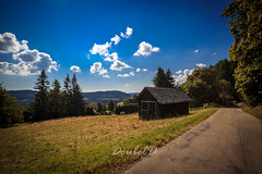 Old but steady (Double.D - Photography) Tags: schluchsee schwarzwald weg house forest wald sky himmel clouds wolken landschaft landscape canon canon600d sigma 1750mm hiking
