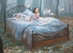 "Awakening Oil on canvas, 65""x91"" On... (Dorian Vallejo) Tags: art fine drawing figure mixed media drawings oil painting dorian vallejo"