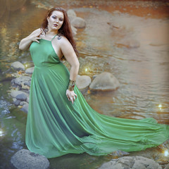'AF-2' (Natasha Root Photography) Tags: natasharootphotography inspire imagine create color painterly likeapainting light water stream dress green plus brunette beauty fineartphotography fineart fireflies
