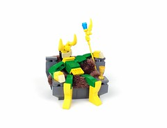 Loki (Tim Lydy) Tags: lego creations charity marvel avengers thor loki throne