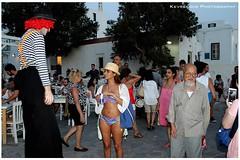 Mykonos (Kevrekidis) Tags: streetphotography mykonos mykonosisland greece   canoneos600d bikini bikinis beach outdoor girl clown mime mimeartist mimo nightlife mykonosnightlife mykonosbynight