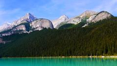 Lake Agnes Tea House Trail Area (Alan FEO2) Tags: banffnationalpark mountians lake water trees mountwhyte thedevilsthumb mountniblock mountsaintpiran thebeehive lakelouise alberta ab canada lakeagnes outdoors panasonic dmc g1 2oef