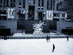 NYC Rockefeller Center (drewweinstein34) Tags: people buildings building rockefellercenter bw iceskating nyc newyork newyorkcity