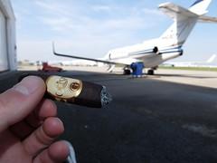 DSCF5063 (J E) Tags: oliva serie g maduro cigar airport plane break