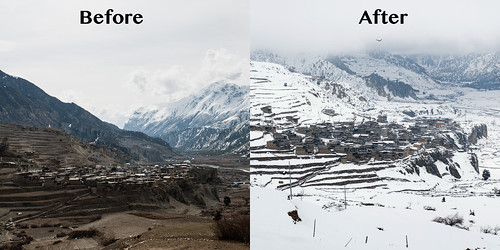 Manang, before and after
