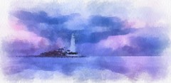 Watercolour (alanpeacock2) Tags: lighthouse painting watercolour art
