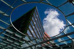 _DSC3004 (durr-architect) Tags: city sky architecture modern clouds mirror centre center almere
