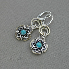 Sterling silver & Turquoise (Taniri) Tags: turquoise jewellery earrings brass sterlingsilver