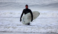 Surfing over (mootzie) Tags: sea white green beach waves surfer surfing aberdeen surfboard mctavish wetsuit xcel