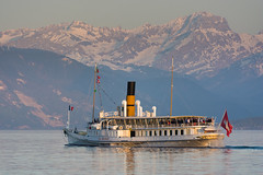 """La Suisse"" (bertrandwaridel) Tags: lake switzerland boat suisse lausanne steamboat ouchy lakegeneva vaud lakeleman lasuisse lausanneouchy"