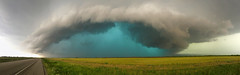 Weinert Texas Supercell (Explored) (Kelly DeLay) Tags: sky storm weather hail skyscape colorful texas teal cloudscape stormchasing supercell